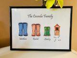 A4 Wellie family frames