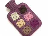 Crocheted Hot Water Bottle Cover (includes hot water bottle)