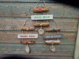 Handmade shabby chic xmas signs x 3
