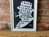 Funny Winston Churchill Quote on Alcohol, Drinking. Chalk board inspired printable download of hand drawn original. Humour, wit.