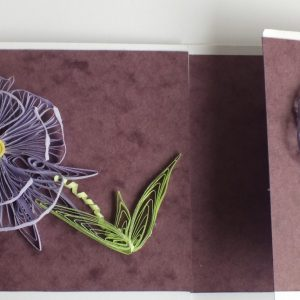 Handquilled card