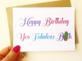 Happy Birthday you fabulous b**ch – Best friend card – Funny Friend Card – Funny Friend Birthday card – Friend Birthday Card – Birthday card